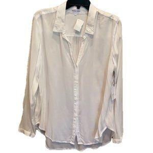 Bella Dahl Hipster Shirt White Button Down Top NWT